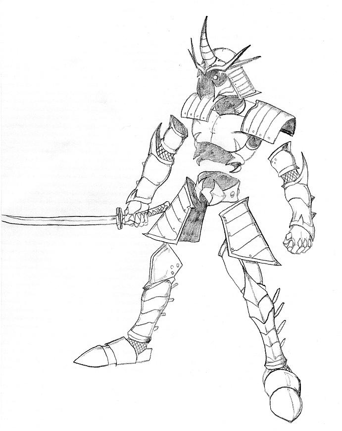 Samurai Armor Drawing At Getdrawings Com