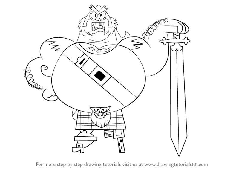 800x565 Learn How To Draw The Scotsman From Samurai Jack (Samurai Jack