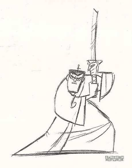460x587 Sjgenndysketch02 Sketches Samurai Jack, Samurai