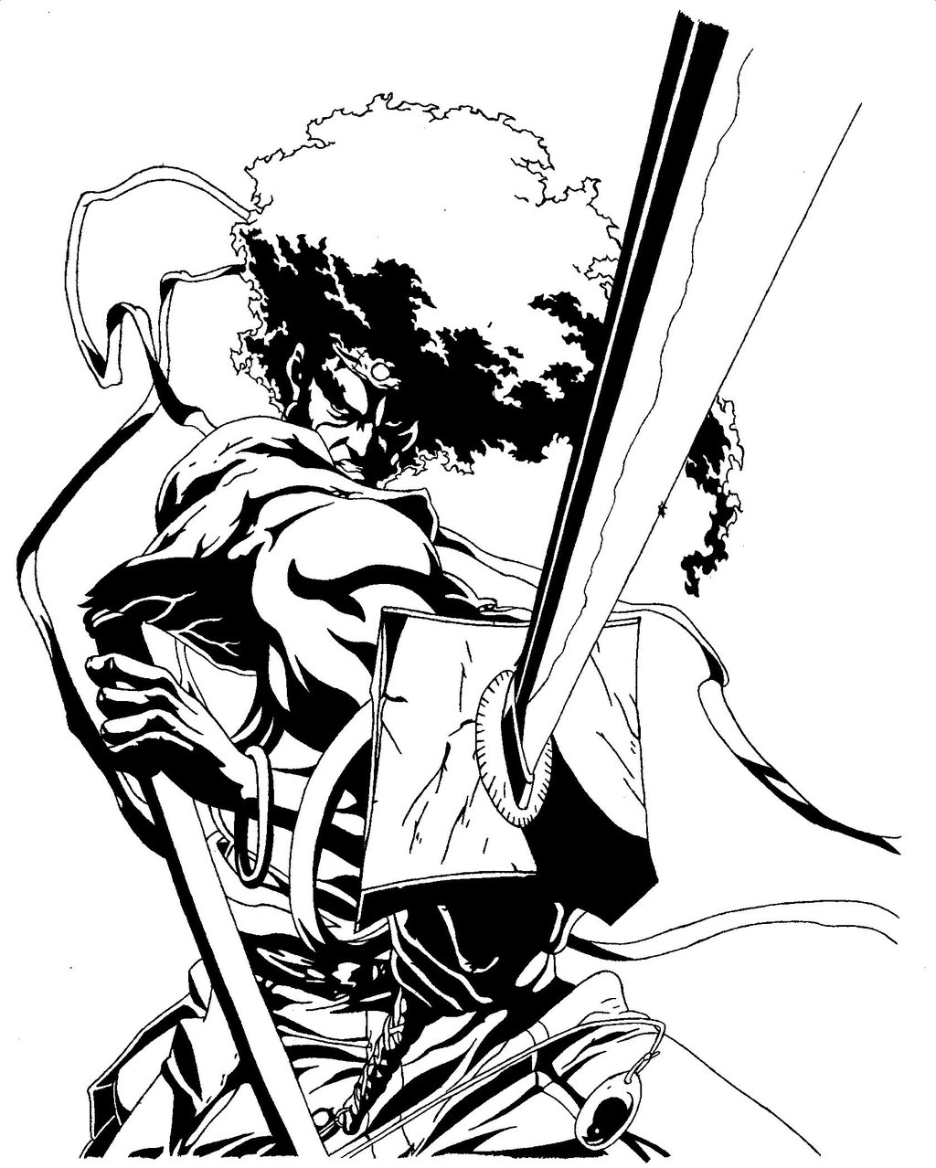 1024x1278 Afro Samurai Drawings Afro Samurai Drawing Style