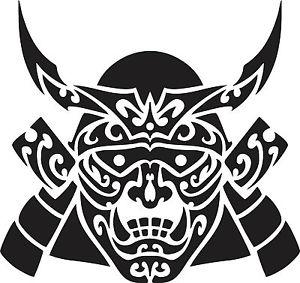 300x283 Japanese Samurai Mask Vinyl Sticker Decals Ebay