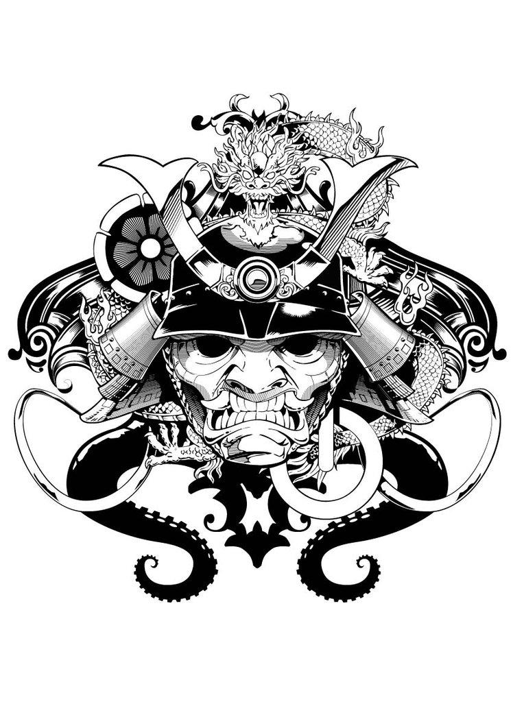 764x1046 Mascara Samurai By Aluisiosouza Tattoo Ideas