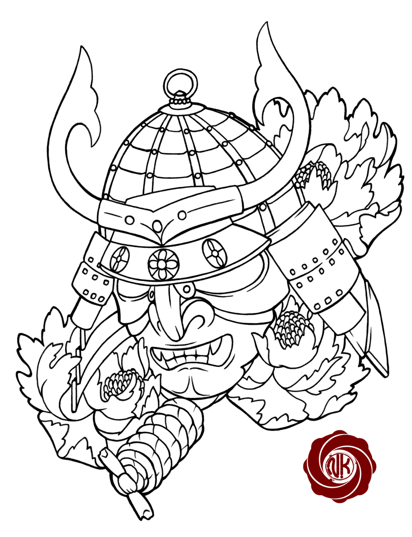 1024x1337 Samurai 2 Sketch Tattoo By On @
