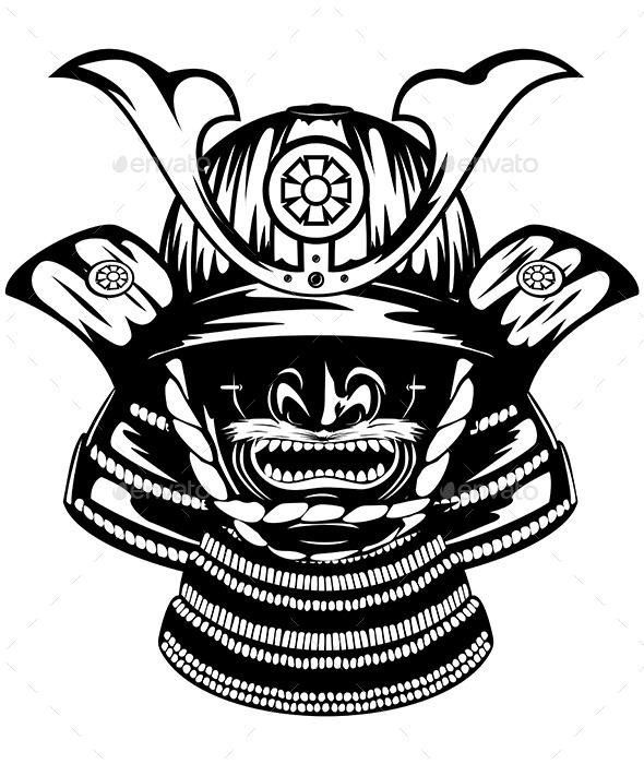 590x700 Samurai Helmet Menpo With Yodare Kake By Ss1001 Graphicriver