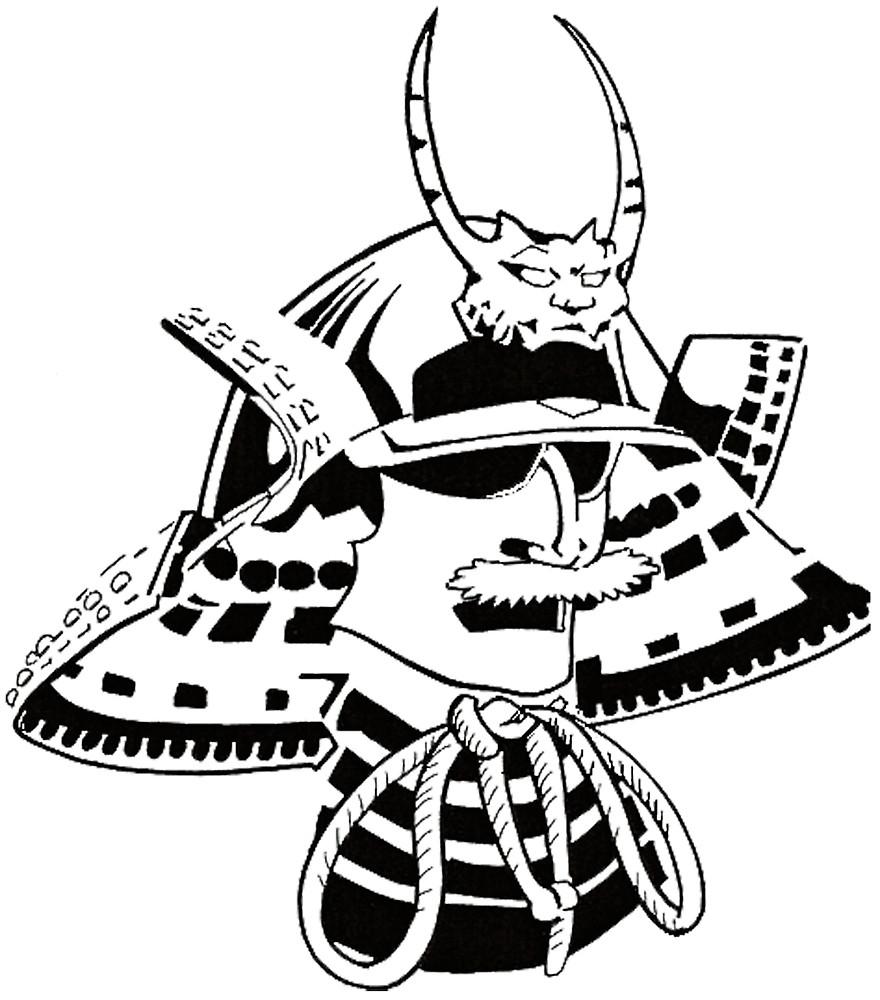 880x1000 Samurai Helmet By Zailo Redbubble