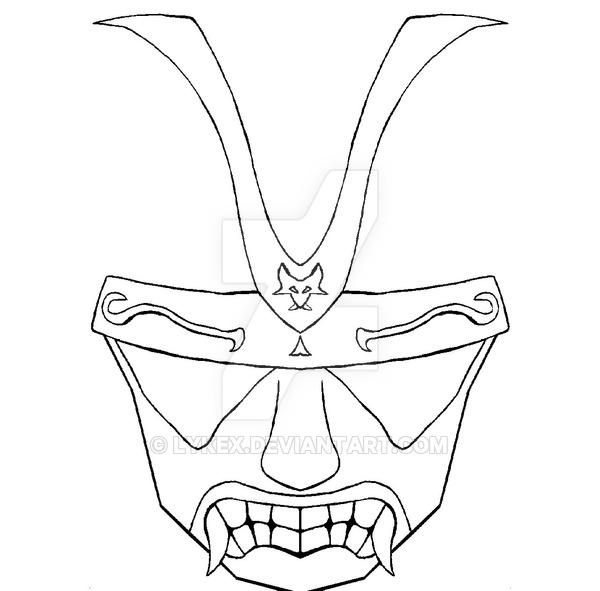600x591 Samurai Mask By Lykex