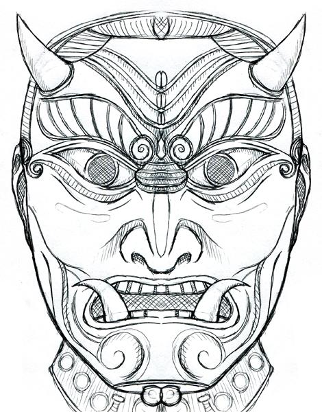 470x600 Samuraii Mask By Mshydeplz