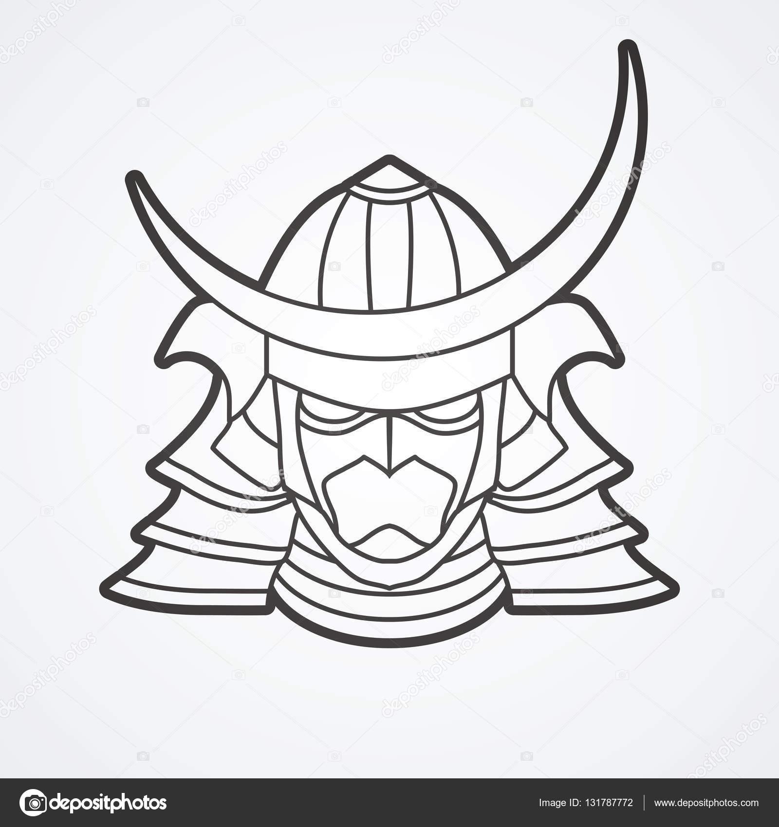 1600x1700 Samurai Mask Helmet Stock Vector Sila5775