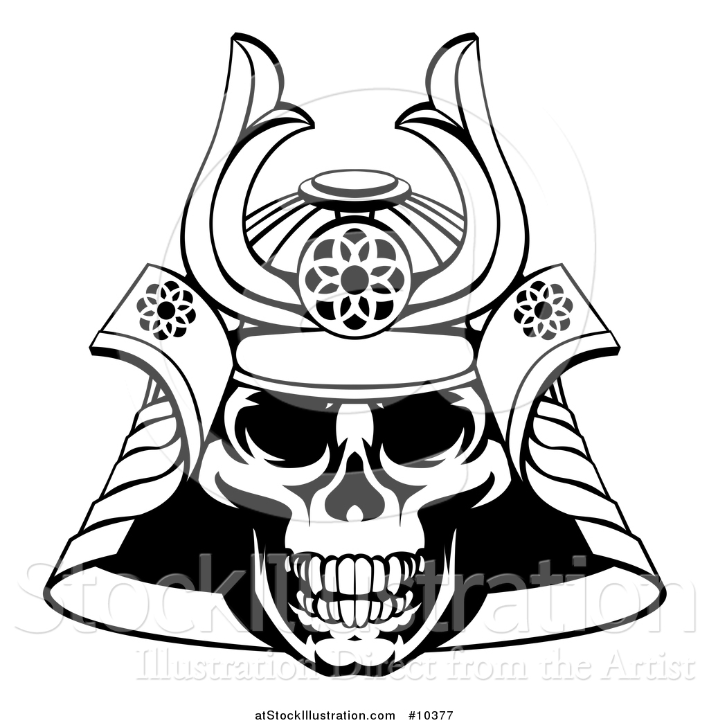 1024x1044 Vector Illustration Of A Black And White Lineart Skull Asian