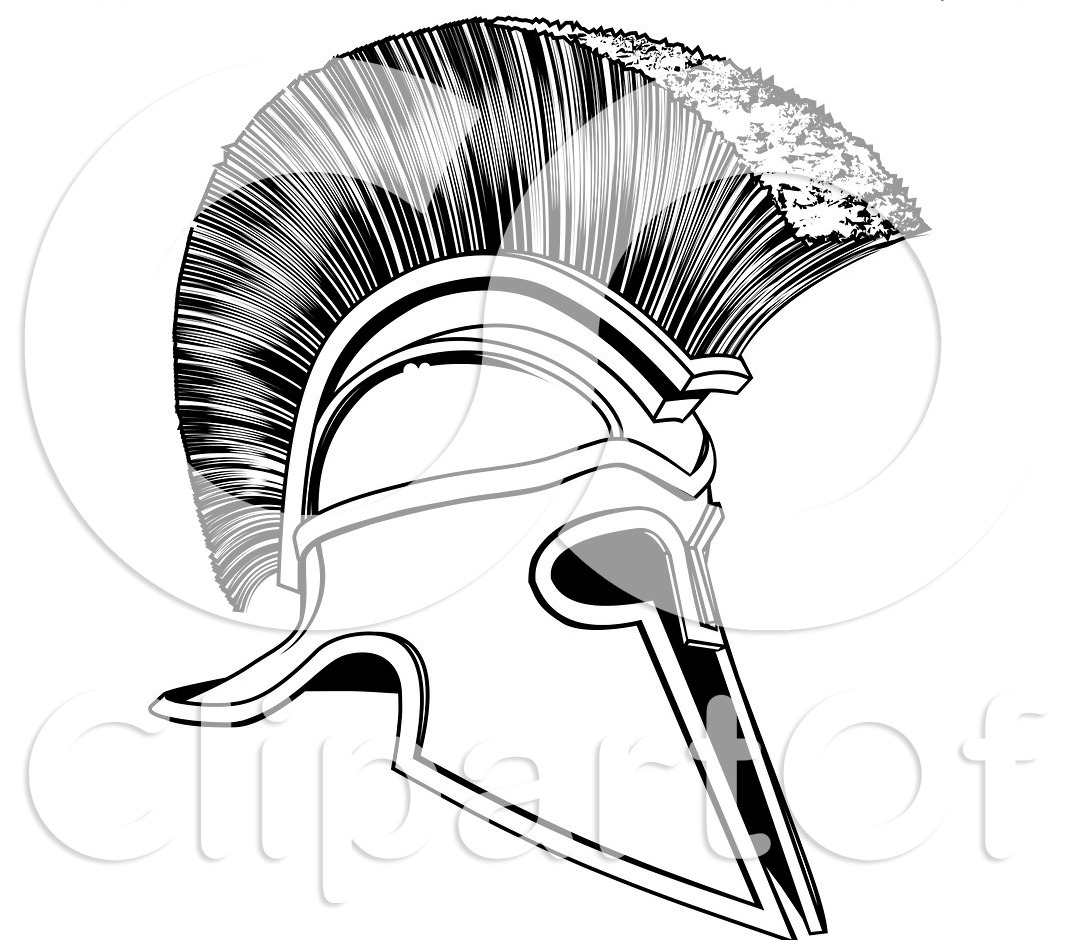 1080x940 Collection Of Black And White Helmet Tattoo Design