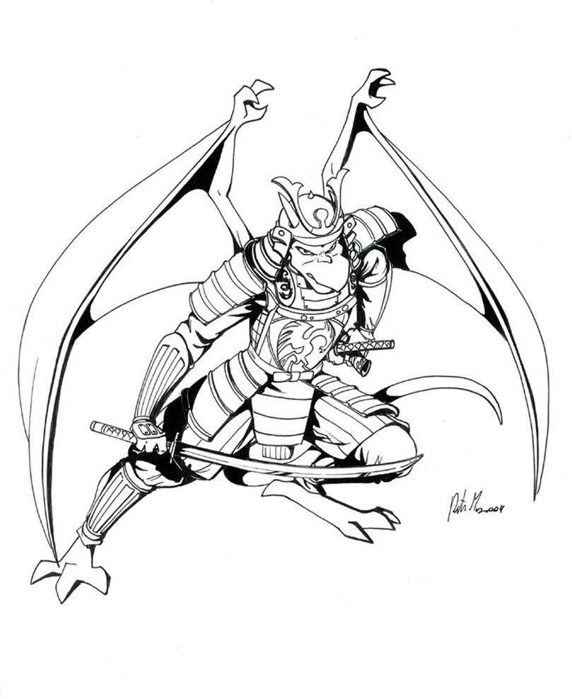 809x988 Drawn Samurai Samurai Outfit