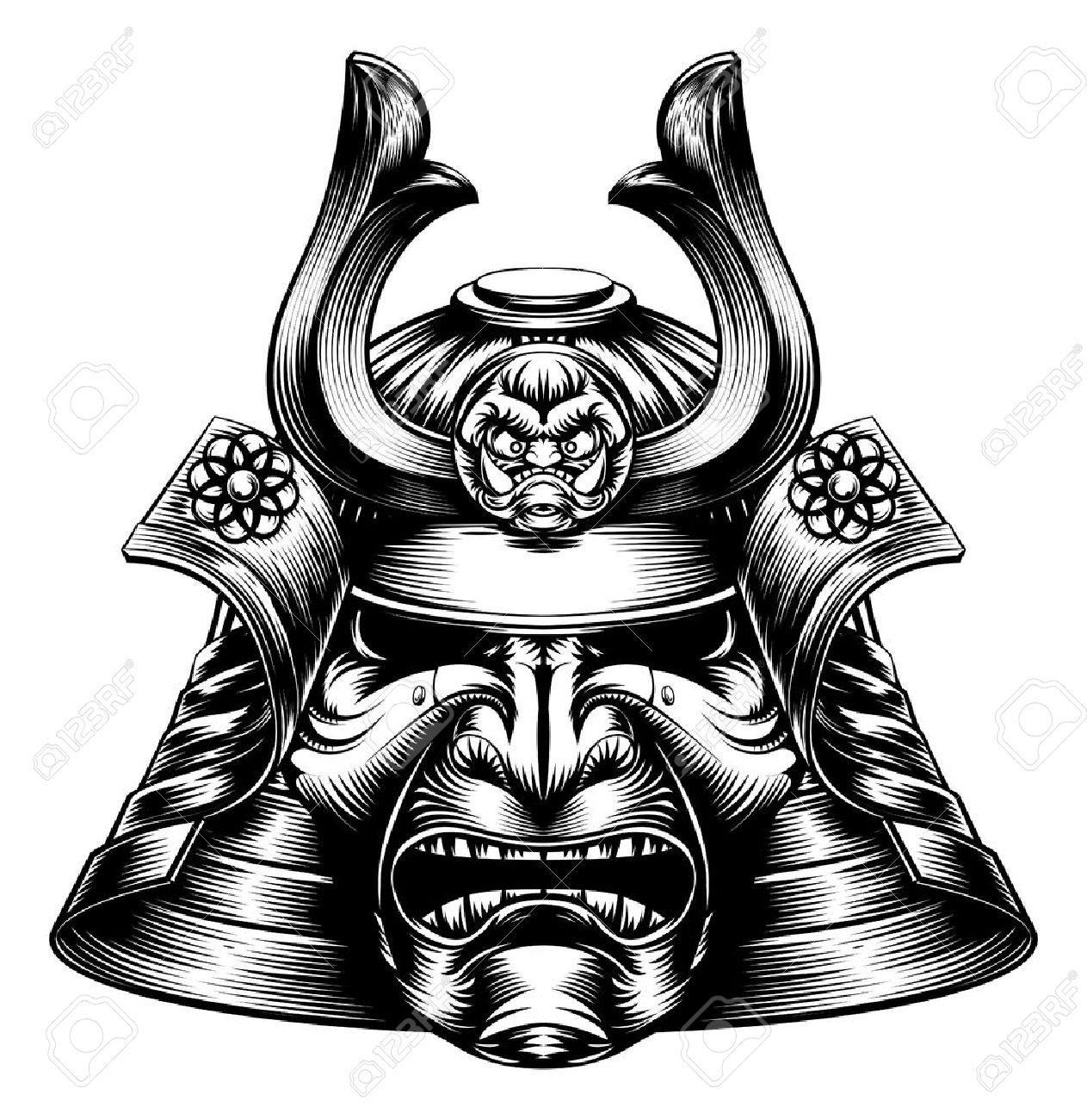 Samurai Mask Drawing At Getdrawings