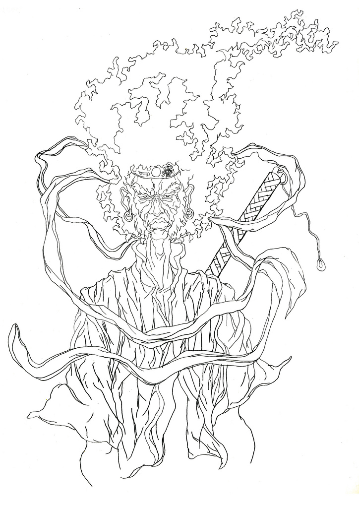 724x1024 Afro Samurai Tattoo Final Illustration To Be Used As A Tat