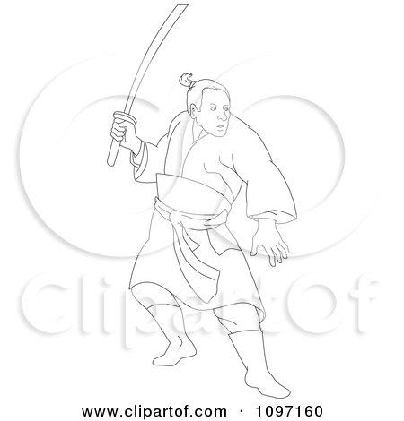 Samurai Warrior Drawing