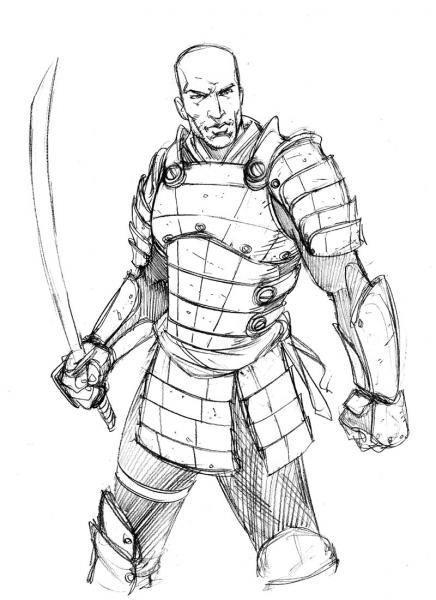 Samuri Drawing