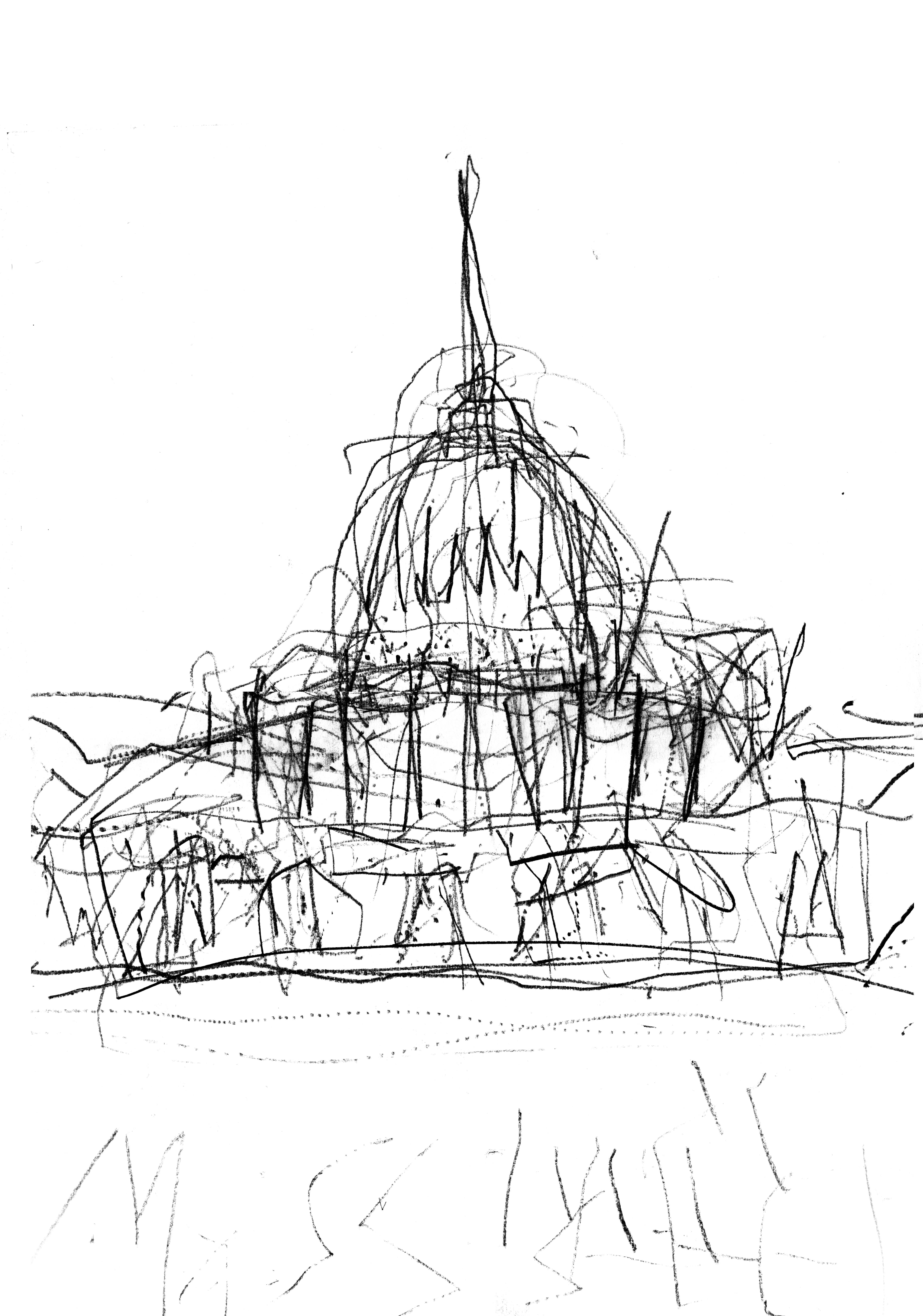 5100x7274 Extended Arm Drawing Of St Paul's Cathedral