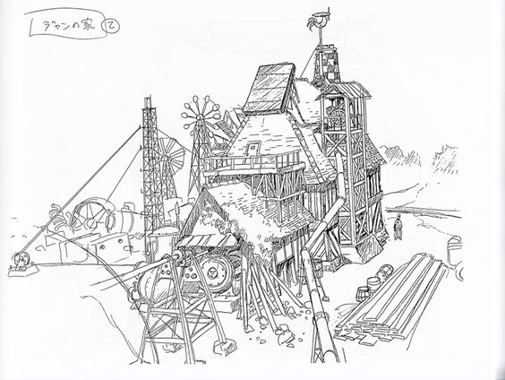 564x424 Don Shank's Concept Sketches For Carl Fredricksen's House, Which