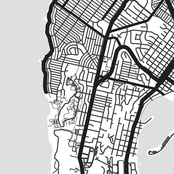 570x570 San Diego Map Print Printable San Diego Map Art San Diego