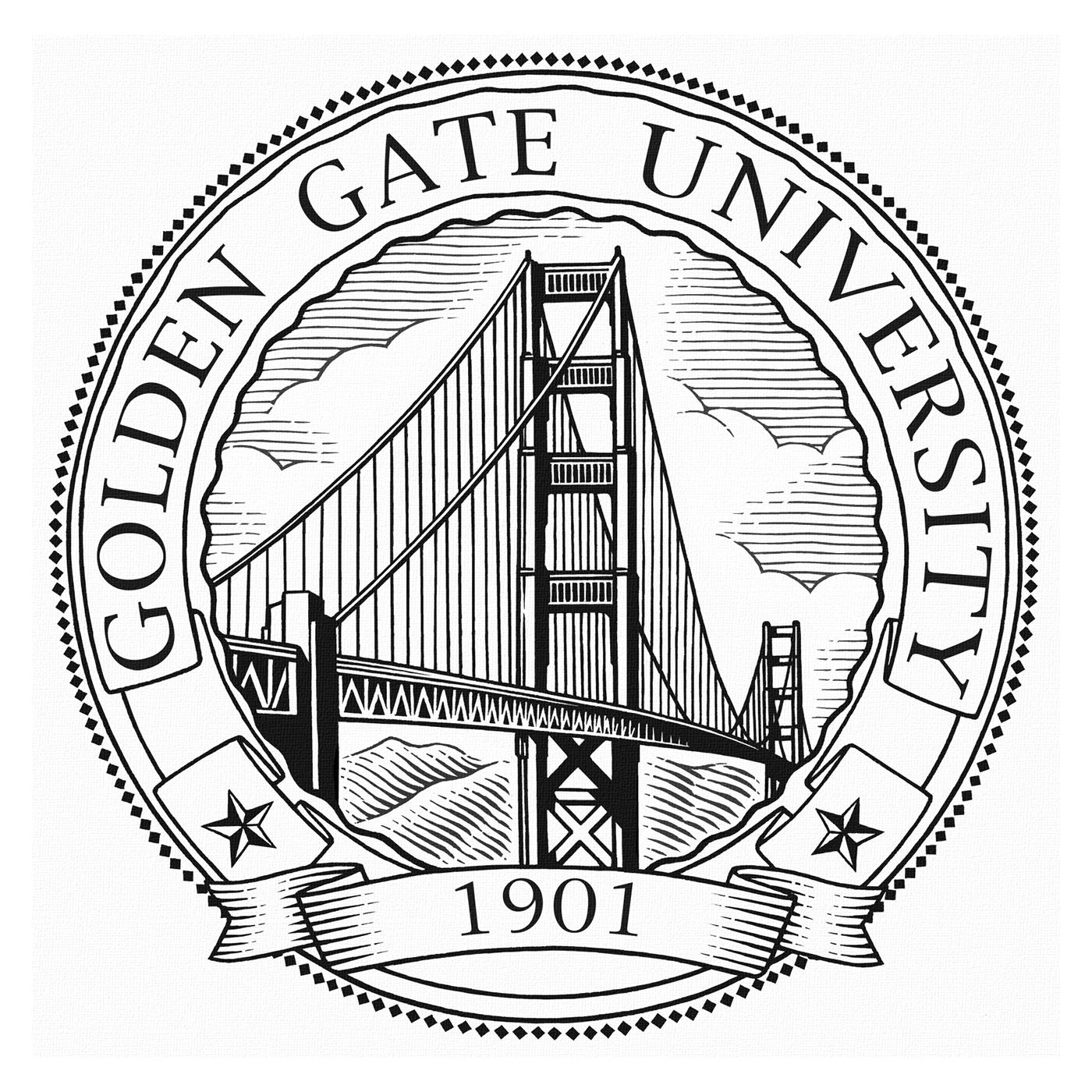 1400x1400 Golden Gate University Logo Illustrated By Steven Noble On Behance