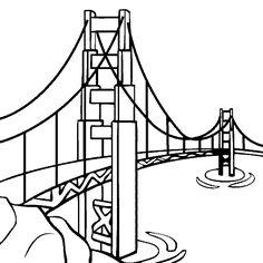 236x236 Golden Gate Bridge Drawing