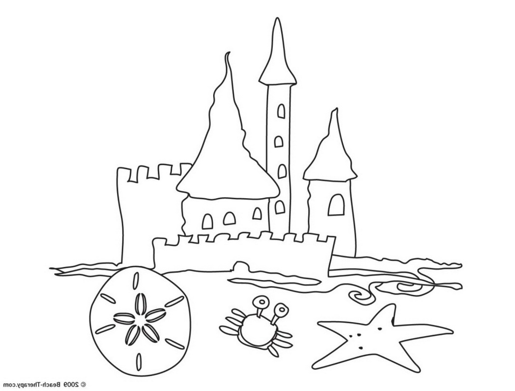 Sand Castle Drawing At Getdrawings Com Free For Personal