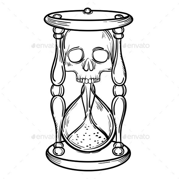 Sand Clock Drawing At Getdrawings Com