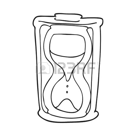 450x450 Freehand Drawn Cartoon Sand Timer Hourglass Royalty Free Cliparts