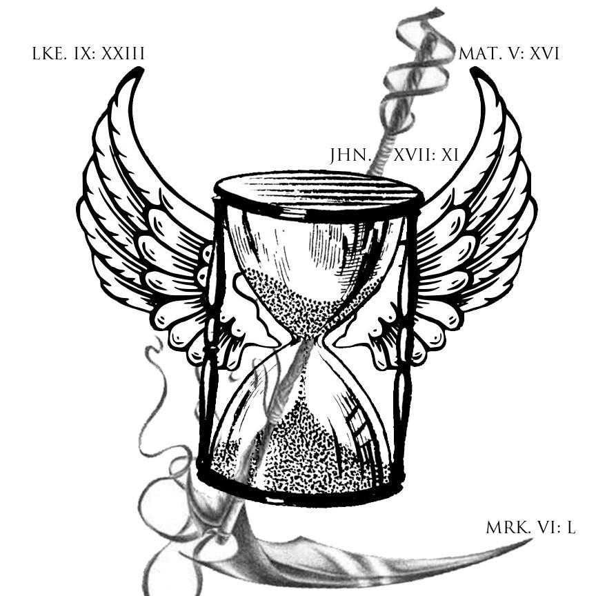 864x864 Scythe Tattoo Hourglass And Scythe By Deviantadman Dont Fear