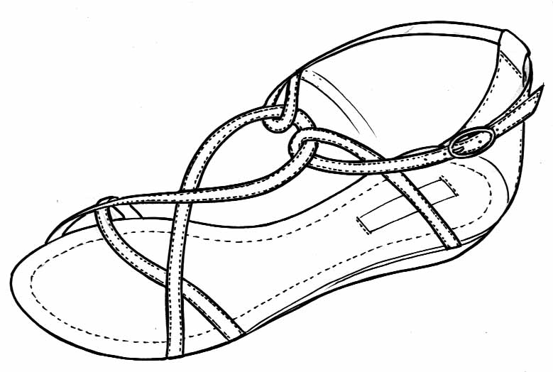 779x524 Sandals Drawing