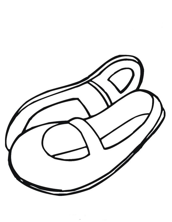 685x886 Sandals Summer Sandal Coloring Page