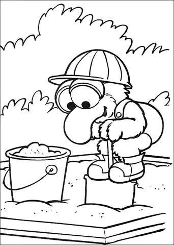342x480 Baby Gonzo Is Playing On A Sandbox Coloring Page Free Printable