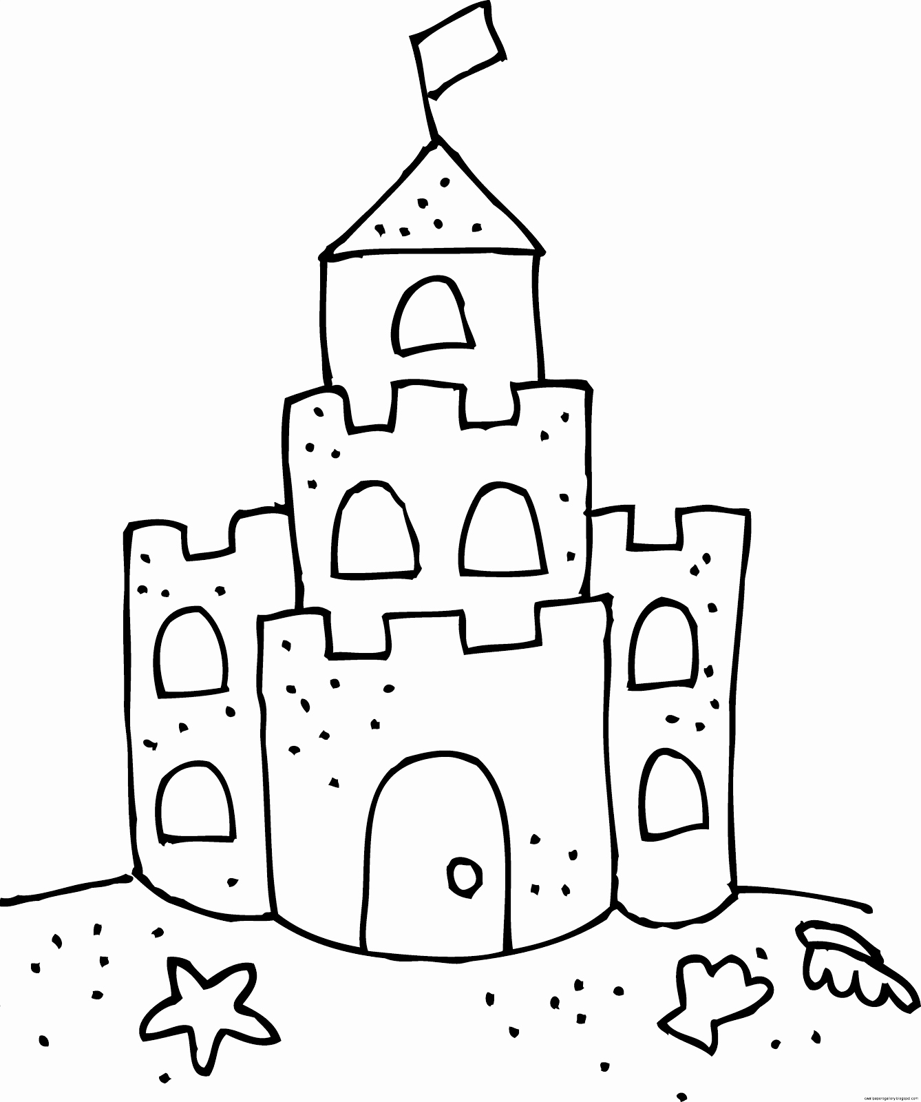 Sandcastle Drawing
