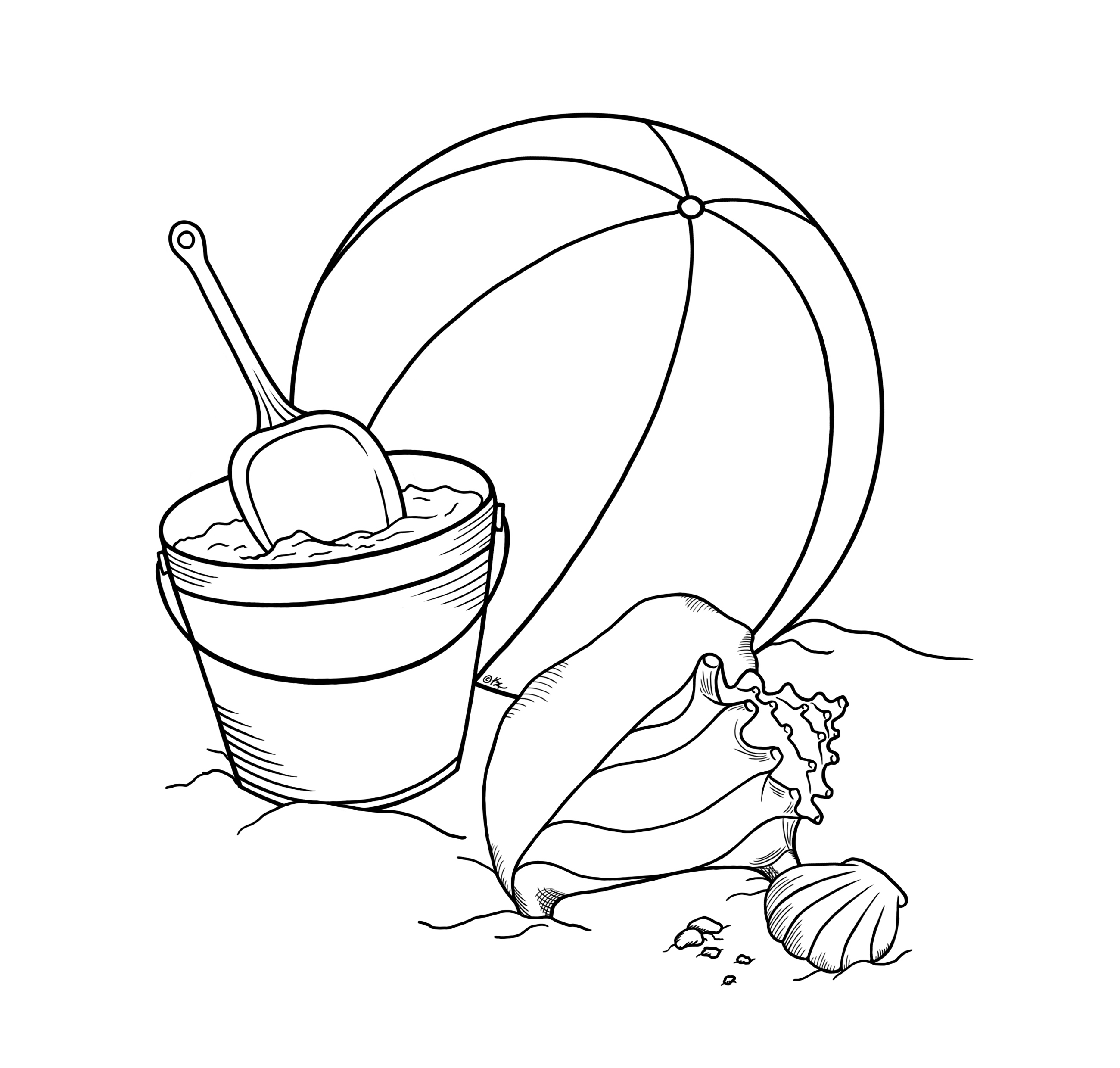Sandcastle Drawing at GetDrawings.com | Free for personal use ...