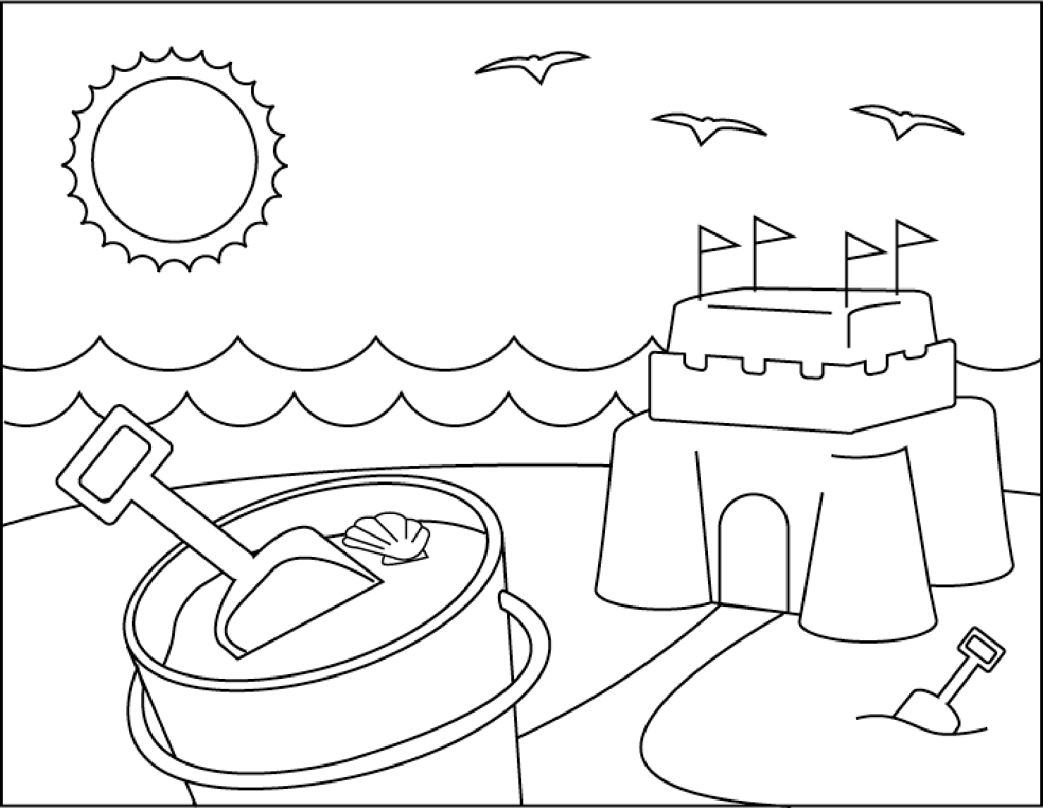 1479x1146 Beach Coloring Pages