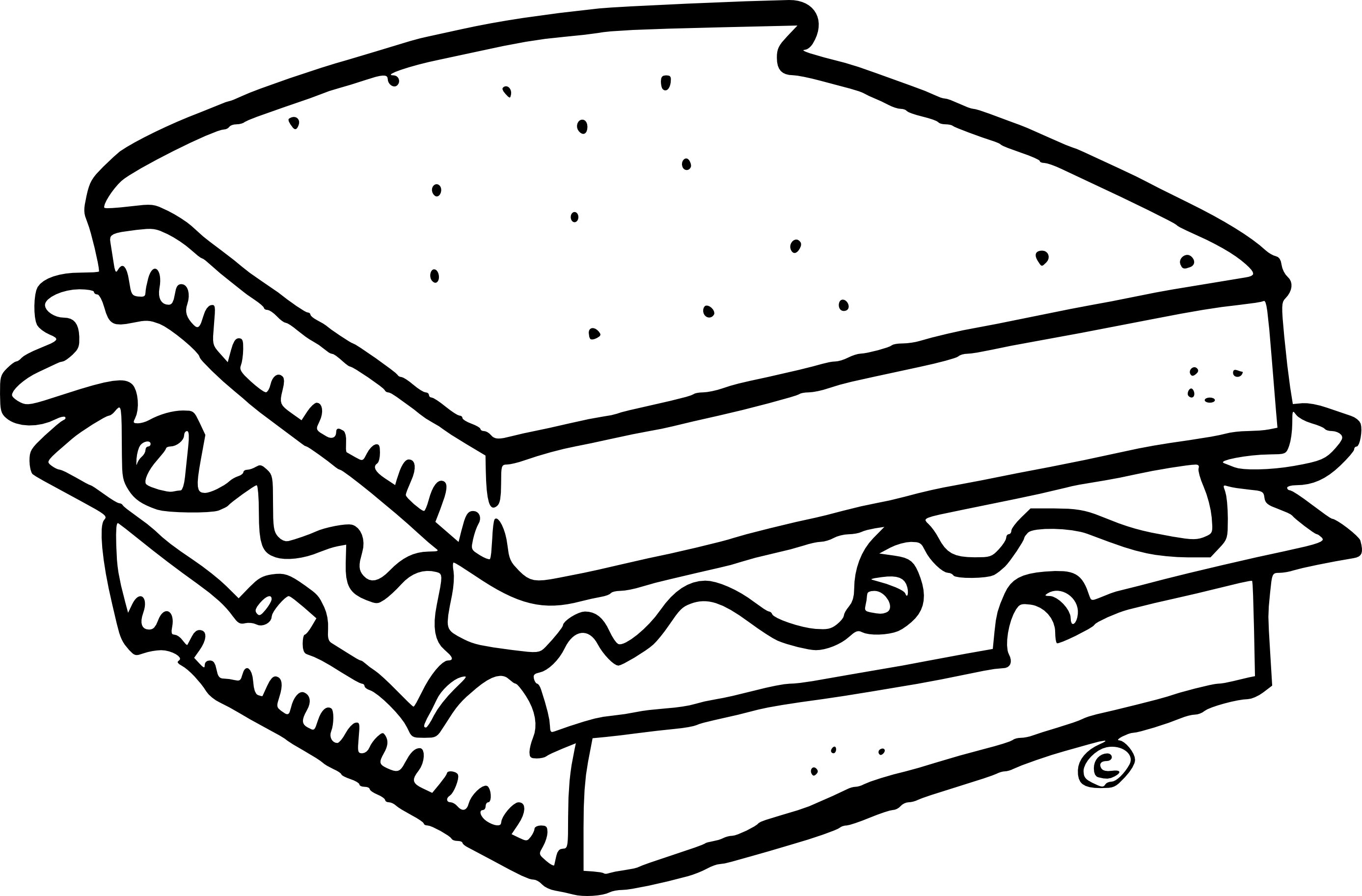 sandwich coloring page sandwich drawing at free for personal