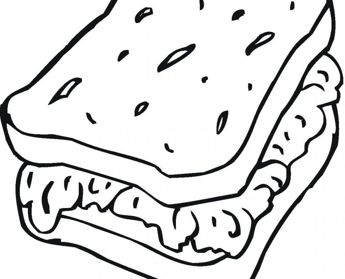 1112x900 Best Friends Sandwich Coloring Page Food Pages Free Kids Printable