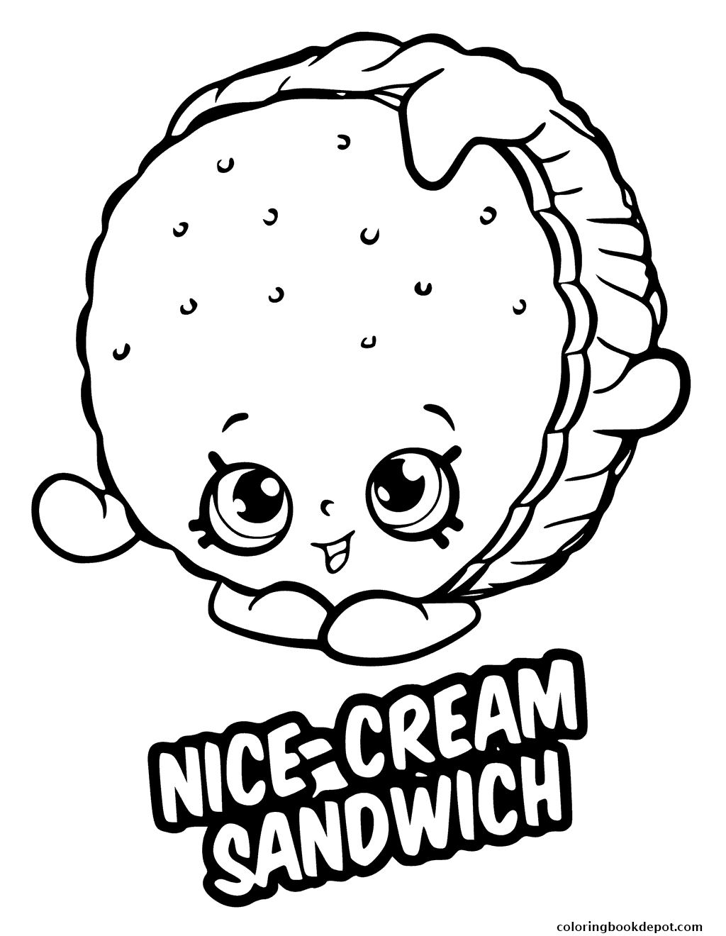 1024x1320 Nice Cream Sandwich Coloring Pages