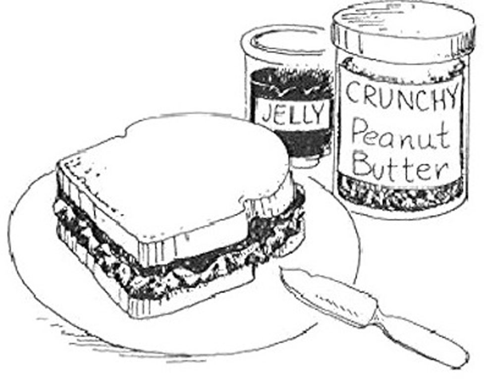 977x780 Peanut Butter And Jelly Sandwich Drawing