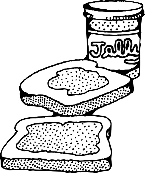 502x600 Peanut Butter And Jelly Sandwich Clip Art Free Vector In Open