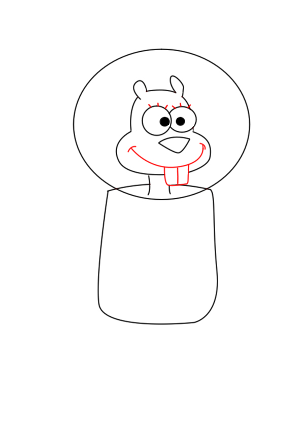 sandy cheeks drawing at getdrawingscom free for
