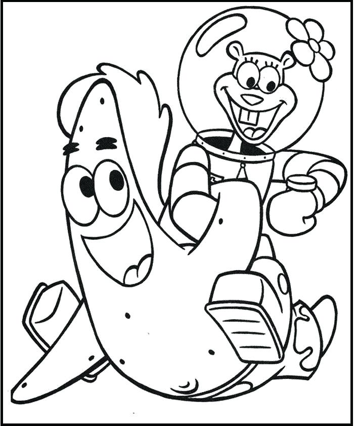 700x842 Sandy Cheeks Coloring Pages Sandy And Having Fun Coloring Picture