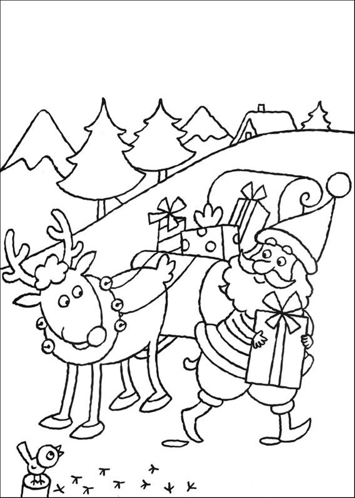 1196x1675 Rein Coloring Pages