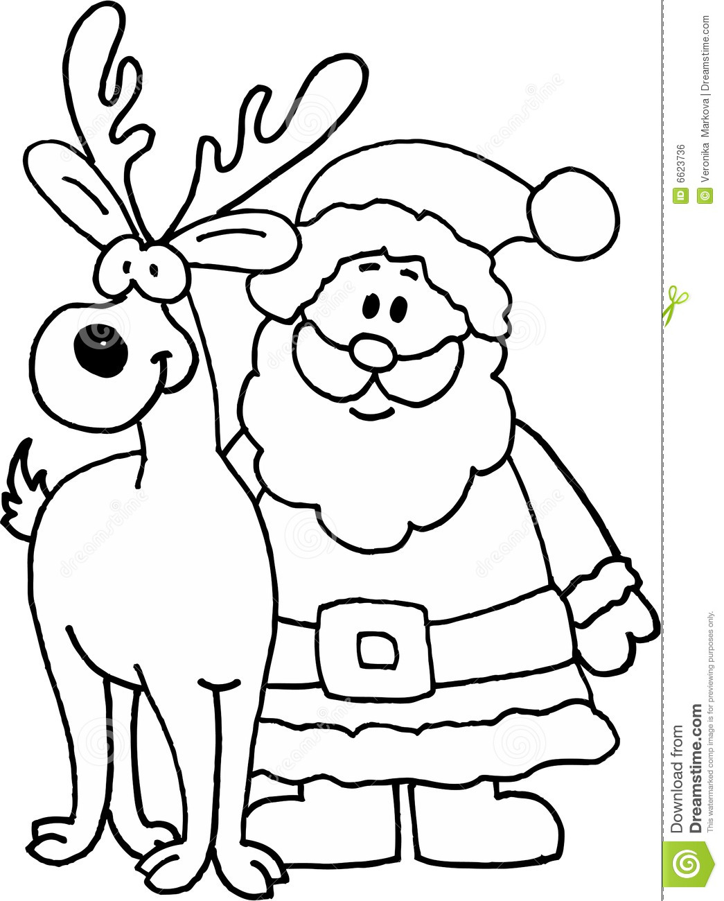 1045x1300 Santa Claus And Reindeer Drawings Images Amp Pictures