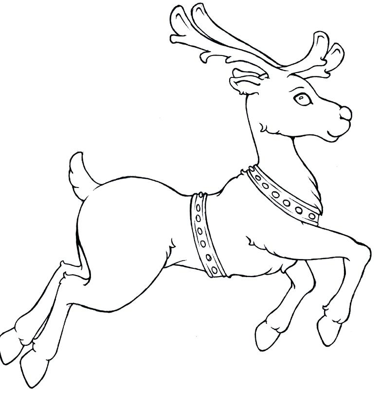 781x807 Santa And Reindeer Coloring Page Joandco.co