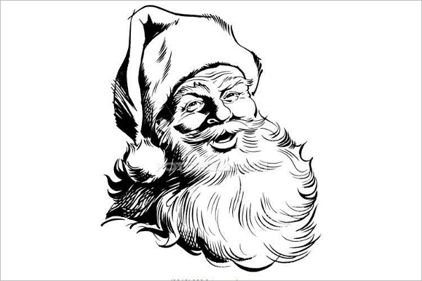 Santa Cartoon Drawing