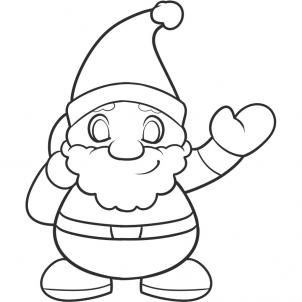 302x302 Coloring Pages How To Draw Easy Santa Uby For Kids Step 9