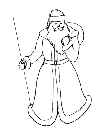 300x411 How To Draw Santa Claus
