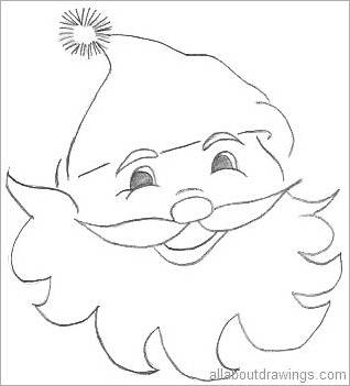 318x351 Easy Christmas Drawings In Pencil