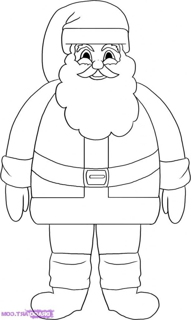 612x1024 How Draw Easy Santa Claus Tags How Draw Easy Santa How