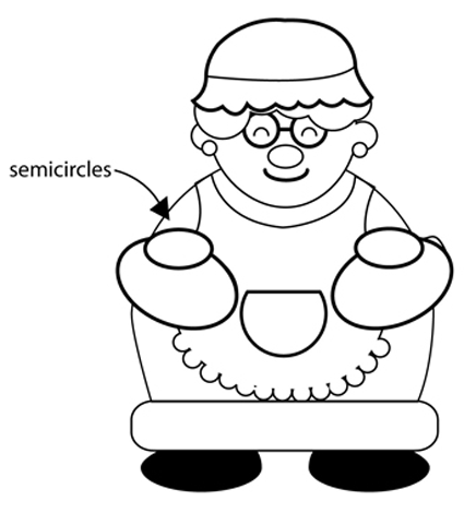 425x470 How To Draw Mrs. Clause For Christmas With Easy Step By Step